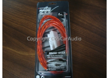 ขาย สายสัญญาณ RCA Monster Car Audio Interlink 101xln Gold Plated 4m RCA Cable